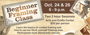 Beginner Framing Class at Arts&Crafts