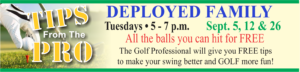 "Tips from the Pro ""Deployed Family"" at the Golf Course"