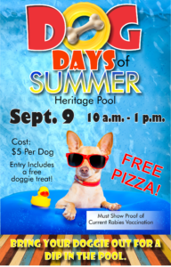 Dog Days of Summer at the Heritage Pool