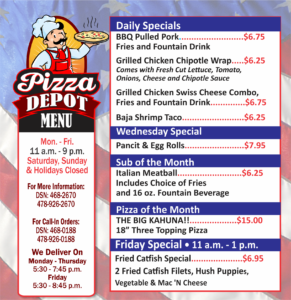 Pizza Depot September Specials