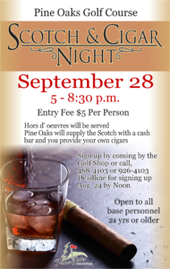 Scotch & Cigar Night at the Golf Course