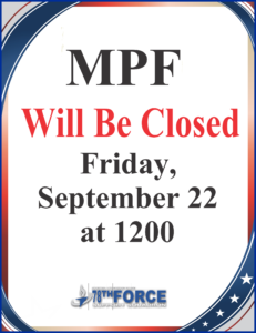 MPF closed Sept 22nd at 1200