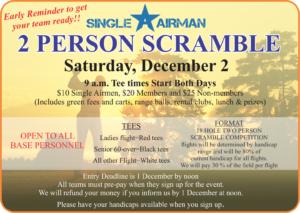 2 person Scramble