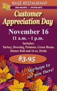 Customer Appreciation Day at the Base Restaurant