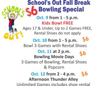Fall Break Bowling Special