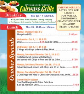 Fairways Grille Oct. Special