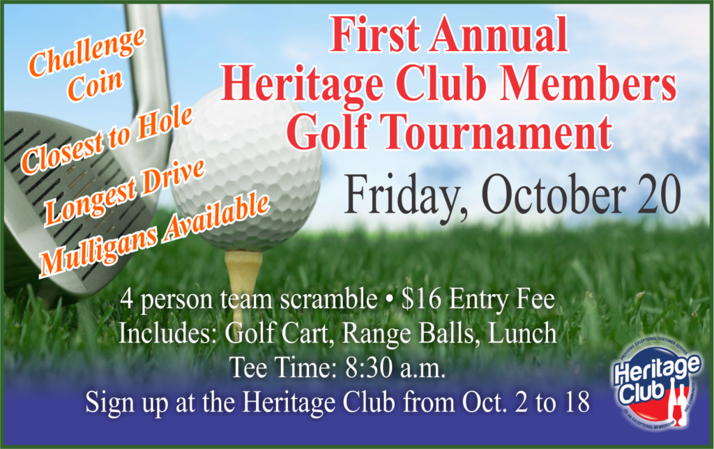 First Annual Heritage Club Members Golf Tournament