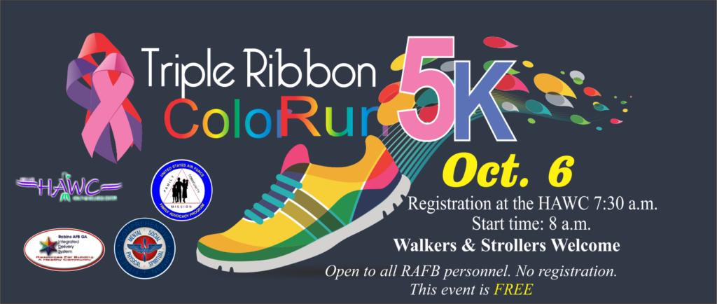 Triple Ribbon Color Run 5k