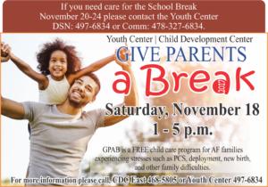 Give Parents a Break Nov. 18