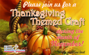 Thanksgiving Themed Crafts at the Library
