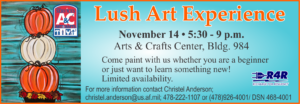 Lush Art Experience at the Arts & Crafts Center