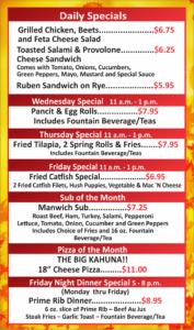 Pizza Depot Oct Specials