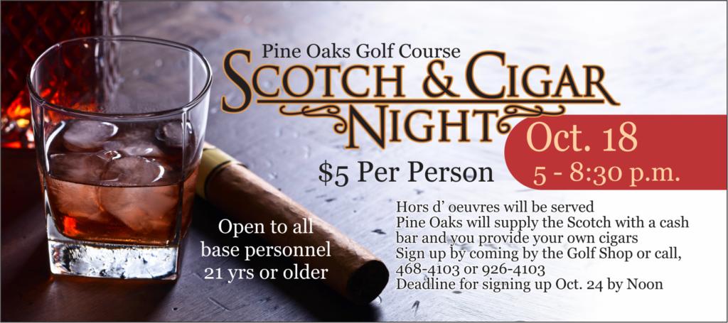 Scotch & Cigar Night at the Golf Course