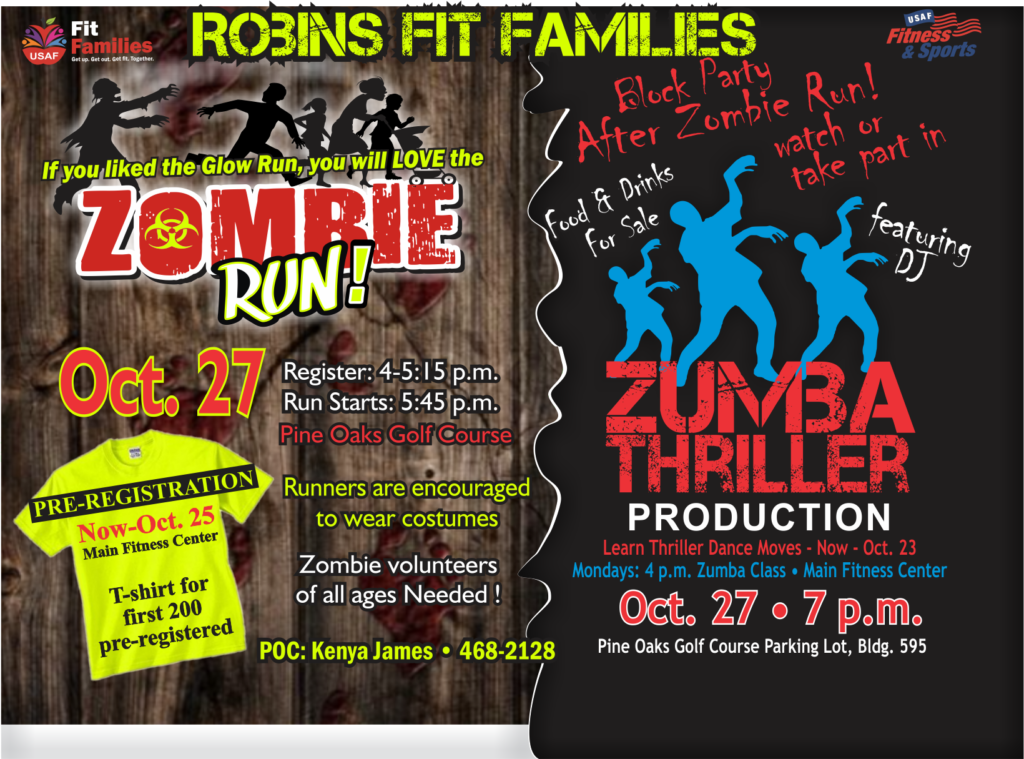 Oct. 27 Zombie Day at the Fitness Center