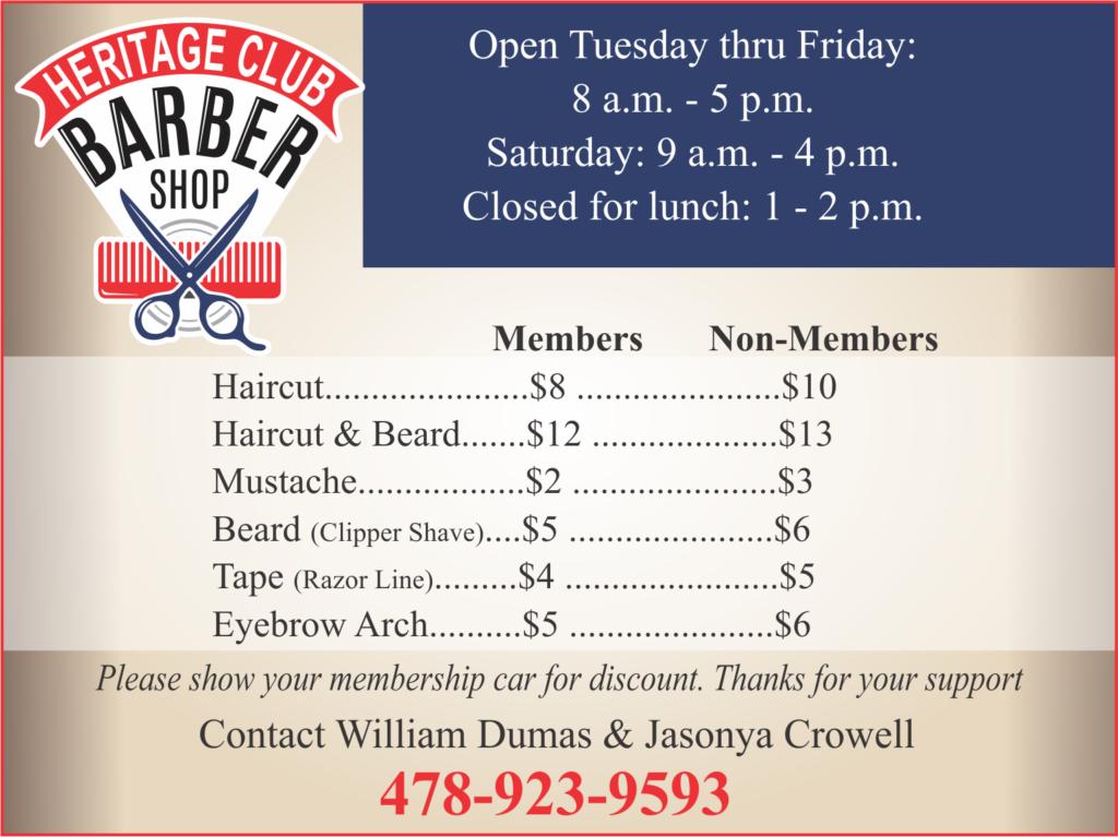 Heritage Club Barber Shop