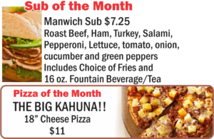 Pizza Depot Sub & Pizza of the Month