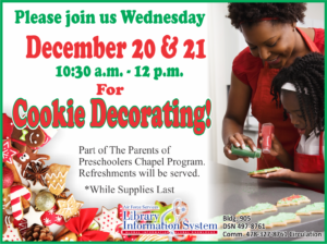 Cookie Decorating at the Base Library
