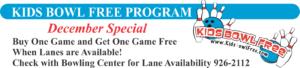 Kids Bowl Free Program December Special