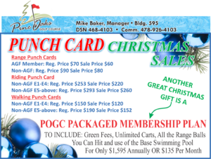 Golf Course Punch Card Christmas Sales