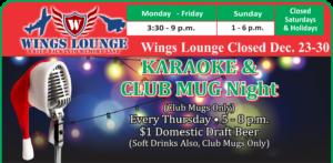 Karaoke at the Heritage Lounge