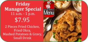 Pizza Depot Friday's Manager Special