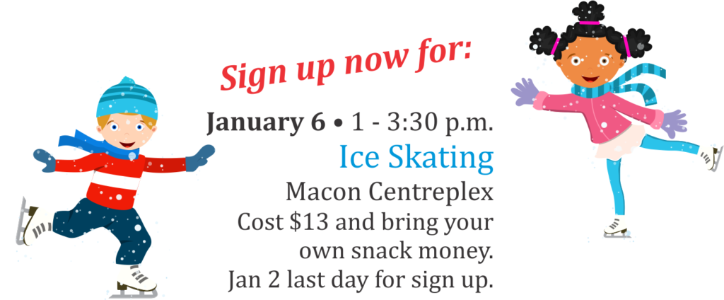 Youth Center Ice Skating Sign-up now