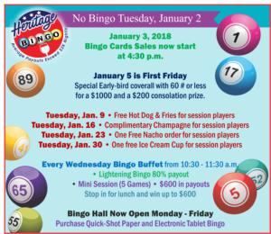 Big Bingo January Specials
