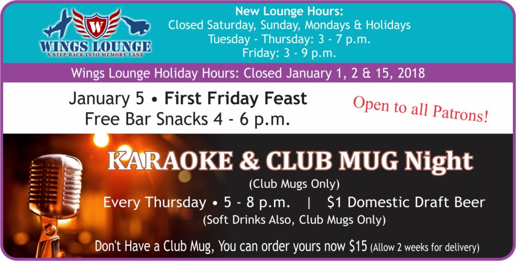 Karaoke & Club Mug Night at Heritage Lounge
