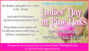 Ladies Day at Pine Oaks Golf Course