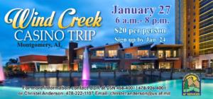 Wind Creek Casino Trip