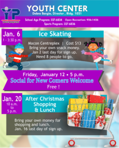 Youth Center January Events