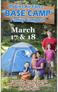 "Robins AF ""BASE CAMP"" Family Campout in March"