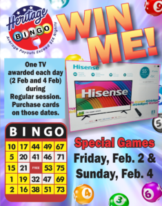 Bingo Special GAME WIN BIG