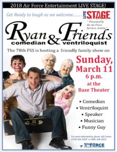 Ryan & Friends Comedian & Ventriloquist at the Base Theater