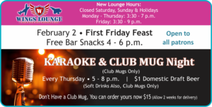 Heritage Lounge Feb Events