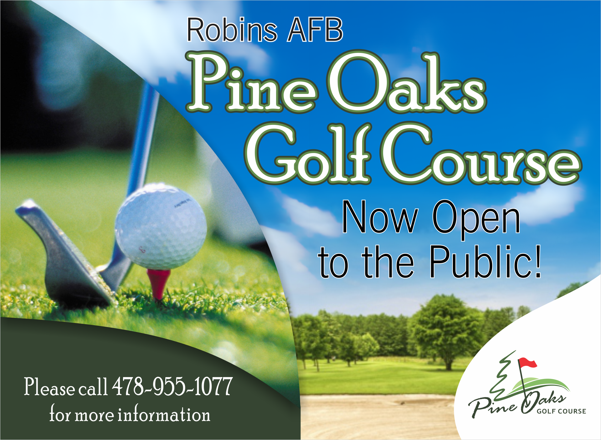Pine Oaks Golf Course - Now Open to the Public   78th Force Support ...