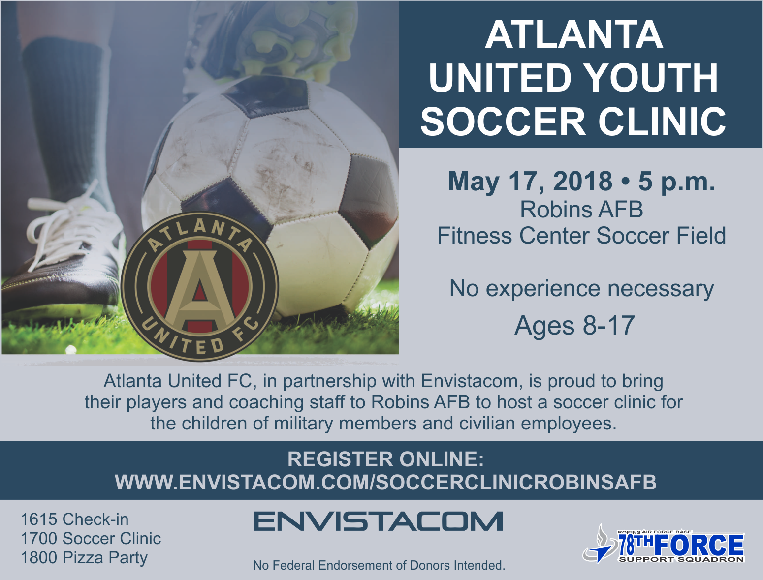 Atlanta United Youth Soccer Clinic | 78th Force Support Squadron