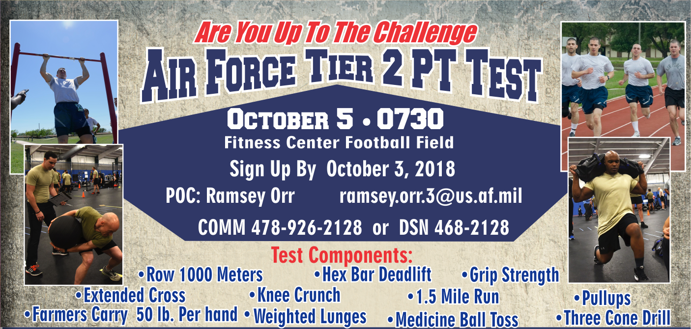 Air Force Tier 2 Pt Test   78th Force Support Squadron