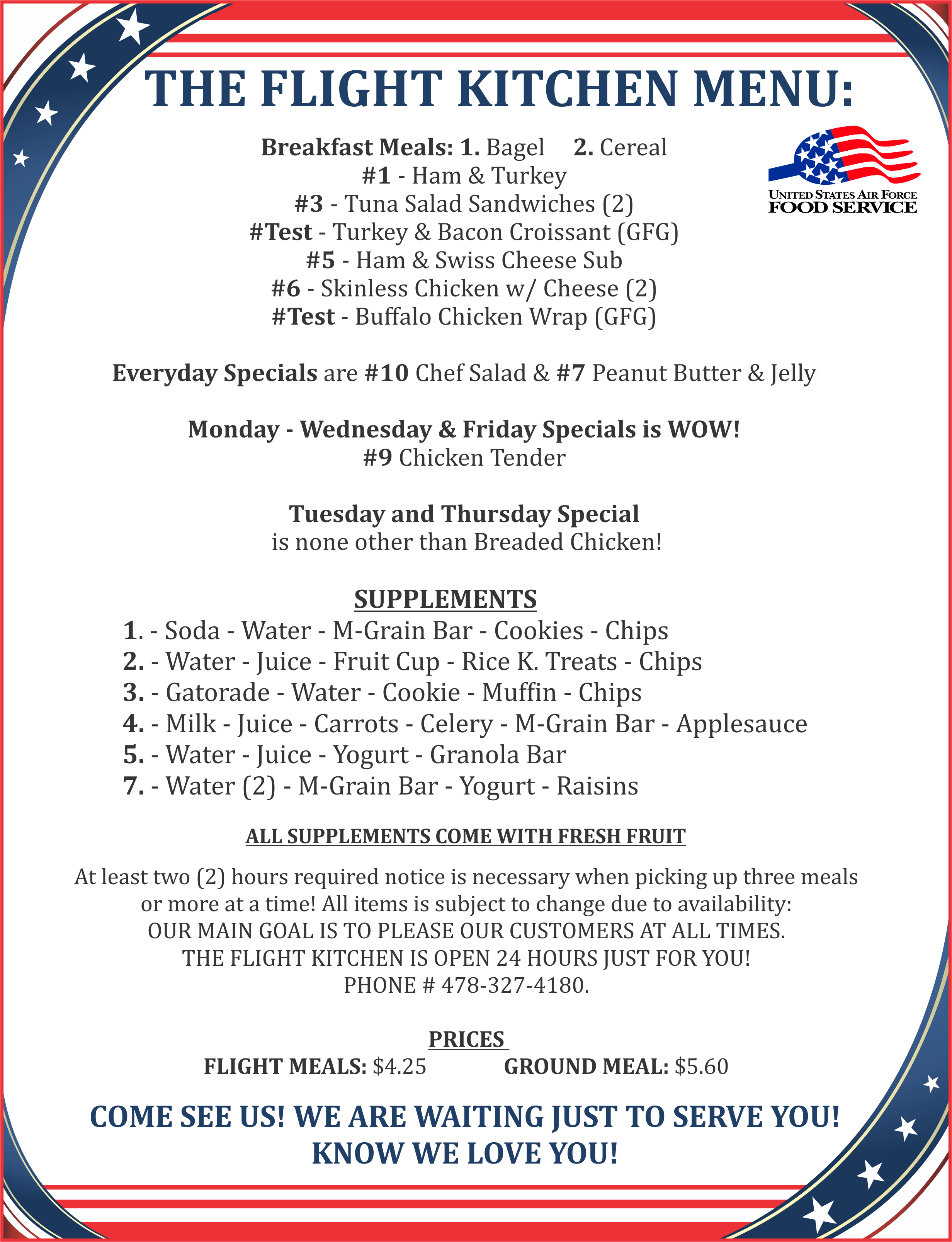 Wynn Dining Facility & Flight Kitchen | 78th Force Support Squadron
